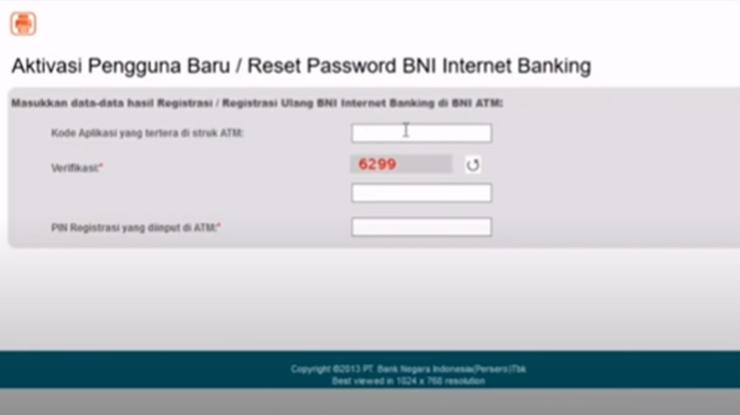 Aktivasi Internet Banking BNI