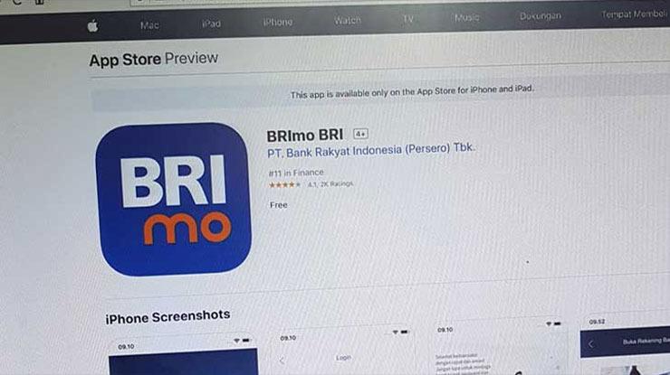 Biaya Admin BRImo