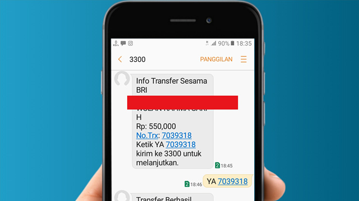Limit Isi Pulsa Lewat BRI SMS