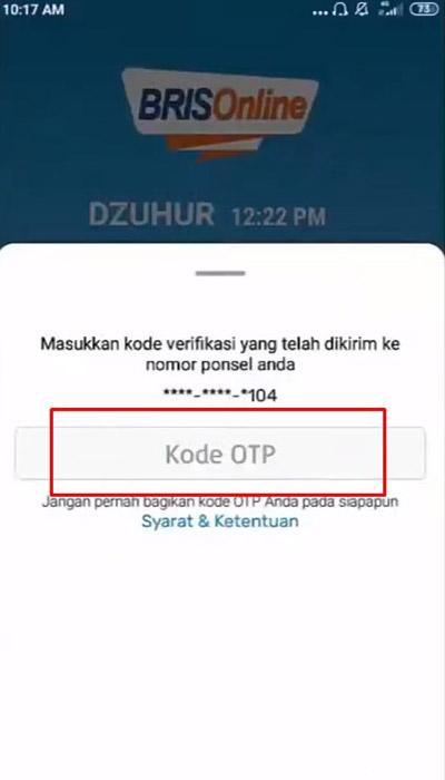 Masukan Kode OTP 1