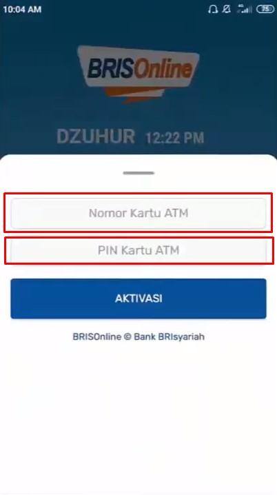 Masukan Nomor Kartu ATM dan PIN ATM