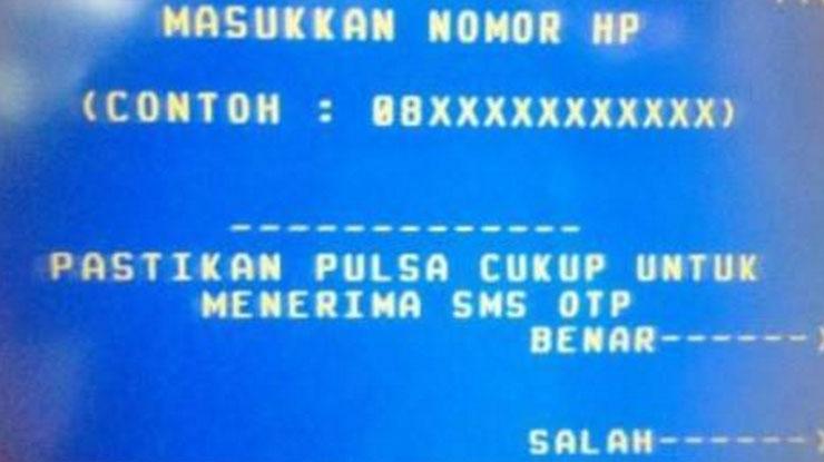 Registrasi SMS Banking BRI