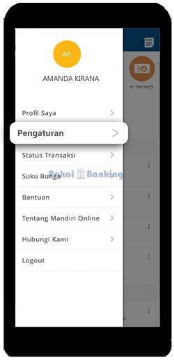 Pilih menu Pengaturan Mandiri Online