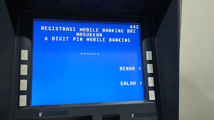 Masukan PIN SMS Banking BRI