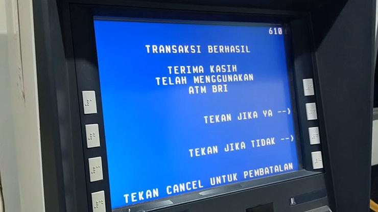 Transaksi Ganti PIN SMS Banking BRI Berhasil