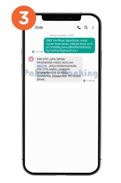 Menerima SMS Kode OTP Lupa MPIN