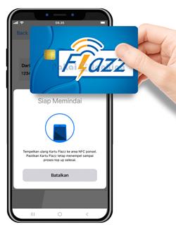 Tempel Kembali Kartu Flazz BCA pada Handphone