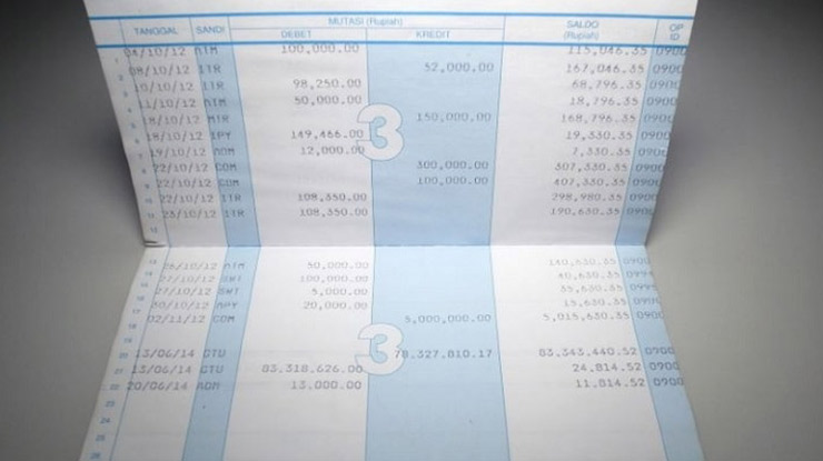 Contoh Kode Transaksi Bank Mandiri